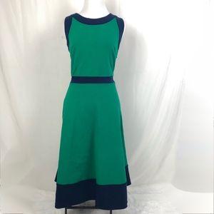 Lands End A- Line Dress Empire Waist Sleeveless